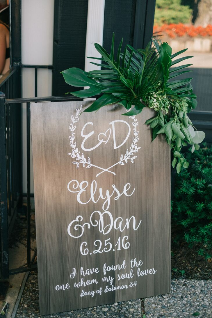 Curled Calligraphy Welcome Sign