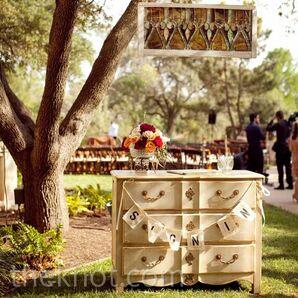 Antique Cabinet Ceremony Decor