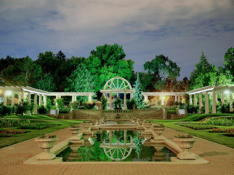 garden and water oasis in Fort Wayne
