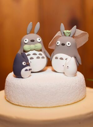 Anime-Inspired Cake Topper for Wedding at Liberty Farms in New York