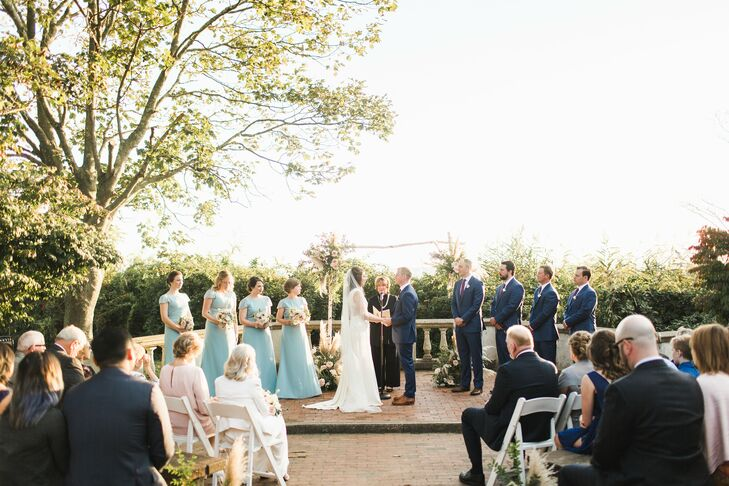 Outdoor Ceremony at The Mansion at Harkness State Park in Waterford, Connecticut