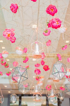 Geometric Hanging Floral Arrangement