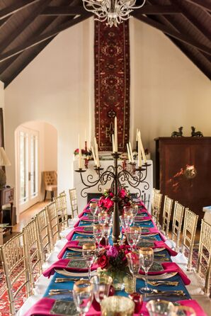 Colorful Fall Wedding, Banquet Table Reception