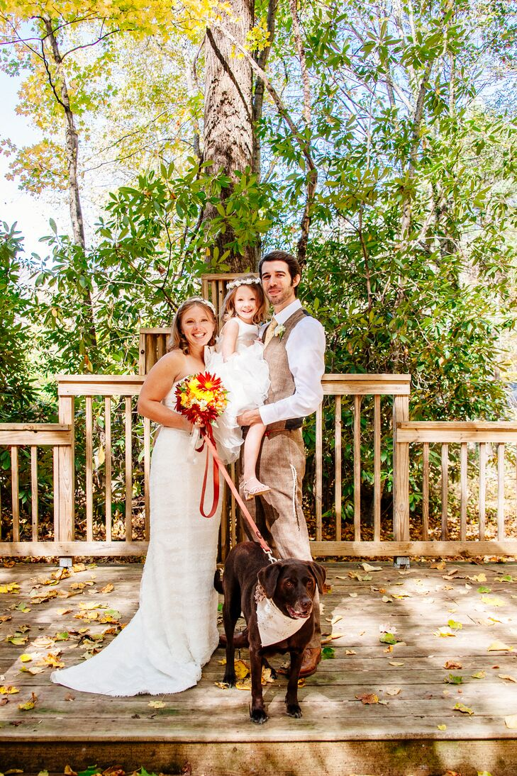 """""""We love spending time with each other and truly enjoy one another's company,"""" says Sarah, """"It was blissful being able to truly focus on each other and our daughter on such a special day."""""""