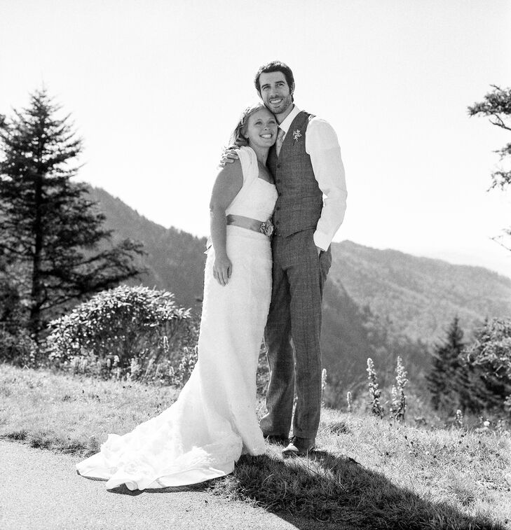 """Sarah and Daniel booked their elopement weekend only three weeks beforehand, which meant having to find a wedding dress and suit in record time. """"Believe it or not, my husband's attire was the most distressing to find.  I found my dress and my daughters in one hour.  We spent weeks finding something for my husband and ended up special ordering his clothes,"""" says Sarah. They arrived the day we left and we were uncertain they would fit.  It all worked out though; I think he looked incredibly handsome."""""""