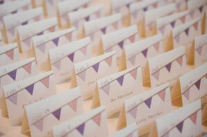Bunting-Themed Escort Cards