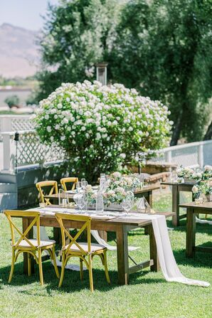 Reception Decorations for Wedding at Leal Vineyards in Hollister,  California