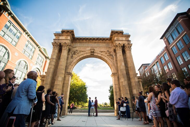 Pop-Up Ceremony Beneath the Arch at McFerson Commons Park