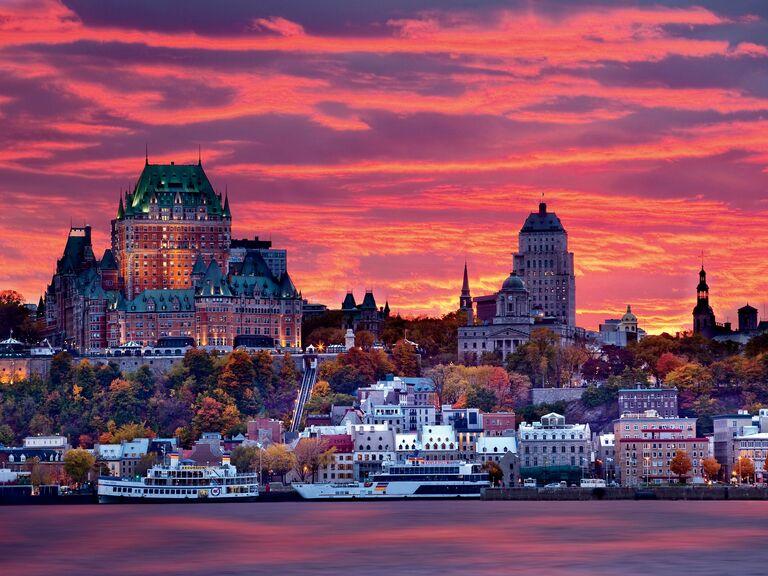 Auberge Saint-Antoine at sunset Quebec City