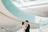 Irene and Steven wedding at Segerstrom Center for the Arts in Costa Mesa, California, was the epitome of modern chic. A ceremony in the round got the