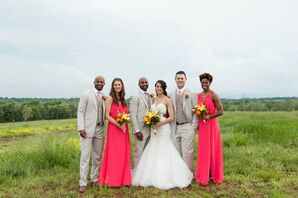 Spring Neutral and Pink Wedding Party