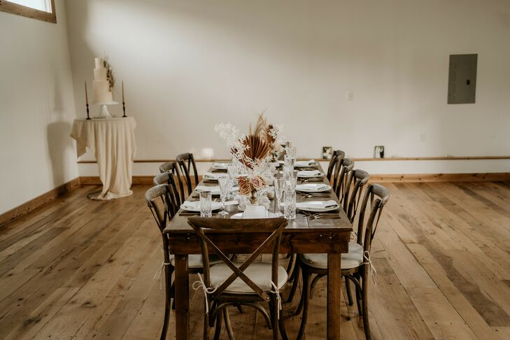 Simple Farm Table Reception in Durham, North Carolina