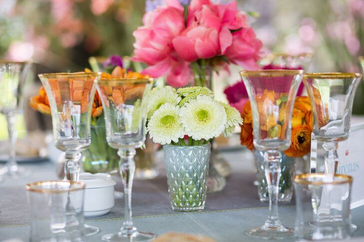 Low Chrysanthemum Centerpieces