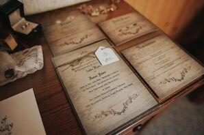 Rustic Invitation Suite for a Winter Destination Wedding
