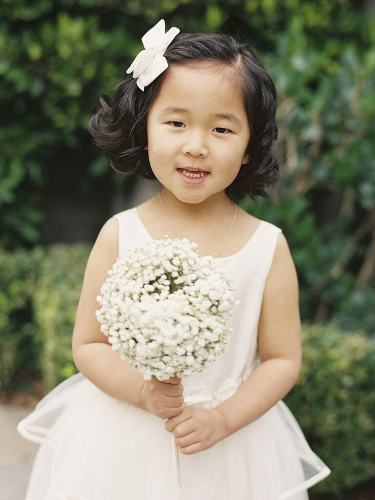 c48cc92b7 Short hairstyle with bow for flower girls
