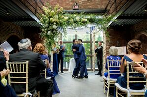 Same-Sex Grooms Share First Kiss at New York Wedding