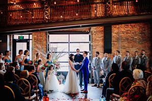 Modern and Industrial Ceremony at The Cookery in Durham, North Carolina