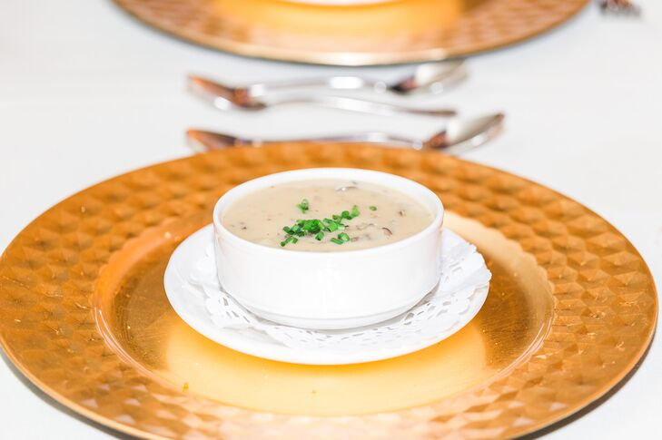 Delicious Soup on Gold Flatware