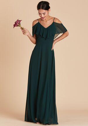 Birdy Grey Jane Convertible Dress in Emerald V-Neck Bridesmaid Dress
