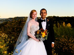 Milad and Kelley Hashemi, both 26-year-old engineering Ph.D. students, tied the knot in a vibrant fall wedding at Villa Del Lago in Austin, Texas. The