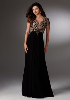 MGNY 71503 Black Mother Of The Bride Dress