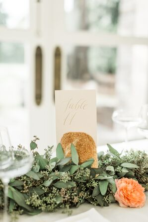 Natural Wedding Table Numbers