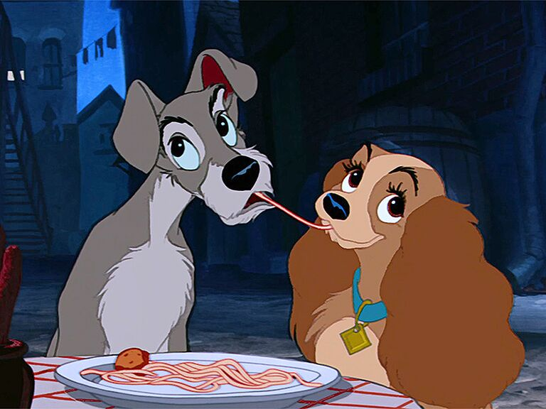 Lady and the Tramp famous disney couples