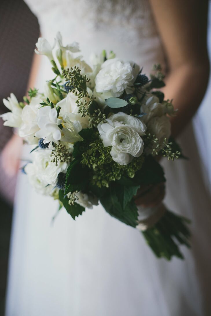 Green And Ivory Bridal Bouquet