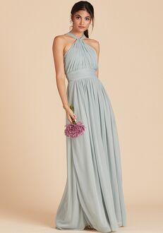Birdy Grey Kiko Mesh Dress in Sage Halter Bridesmaid Dress