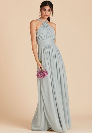 Birdy Grey Kiko Mesh Dress in Sage Halter Bridesmaid Dress