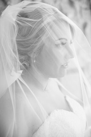 Bridal Cathedral Veil With Blusher