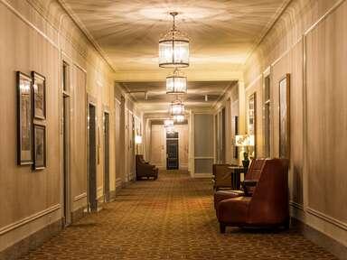 Creepy hotel hallway