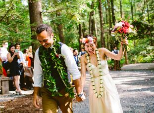 Jane Qin (31 and works at a tech start-up) and Brandon Medeiros (27 and an asset manager) planned the perfect party in the woods for their wedding. He