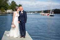 Sarah Risk (30 and a registered nurse) and Scott Purcell (40 and a logistics officer in the Canadian Armed Forces) held their nuptials bright and earl