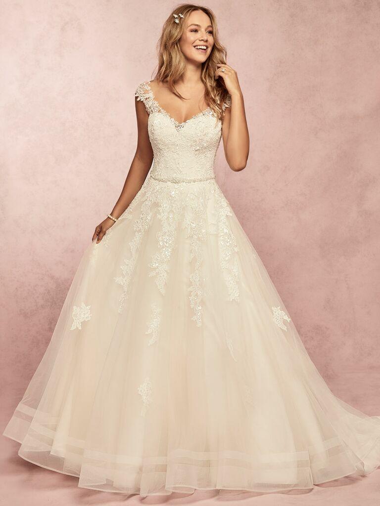 Rebecca Ingram Spring 2019 ball gown wedding dress with beading