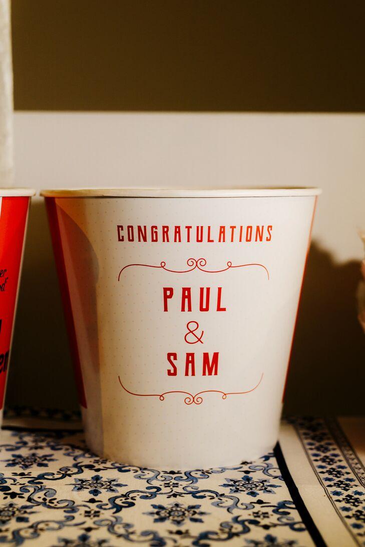 Custom Food Buckets at Wedding in Australia