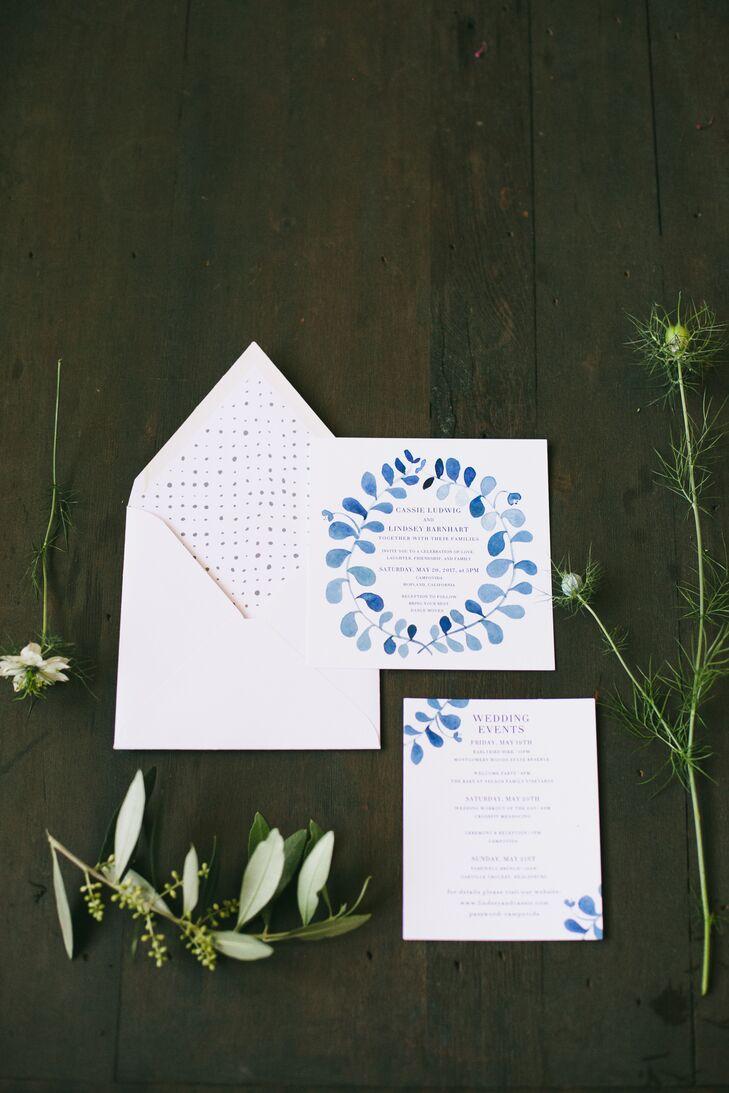 Minimal Invitation Suite with Botanical Illustrations