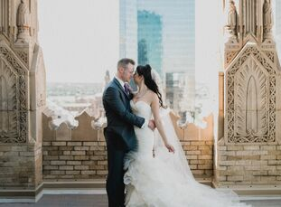 Audrey Puentes (32 and a physician) and Paul Courtney (33 and an anesthesiologist) met during medical training—their first real conversation happened