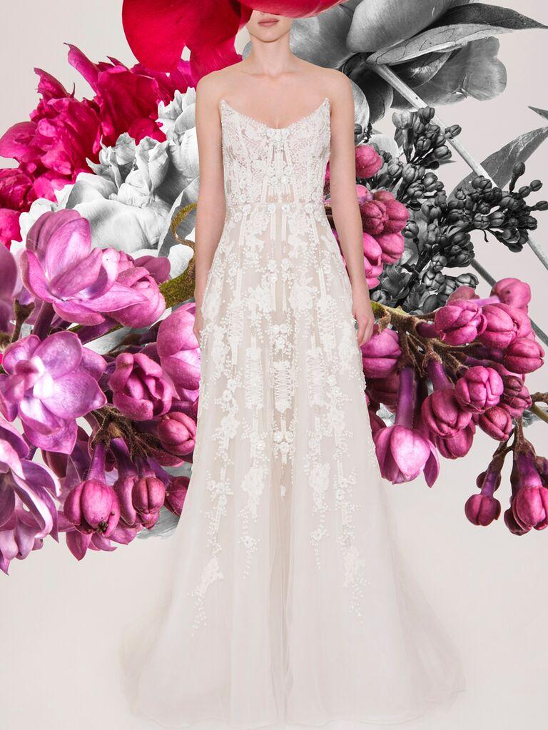 Reem Acra wedding dress