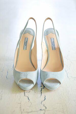 Light Blue Prada Bridal Shoes