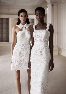 Viktor&Rolf Mariage GRAPHIC BRODERIE ANGLAISE COLUMN Sheath Wedding Dress