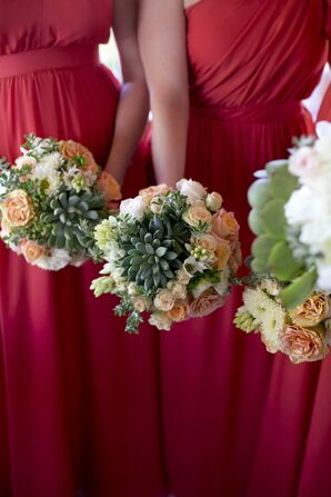 Succulent Bridesmaid Bouquets
