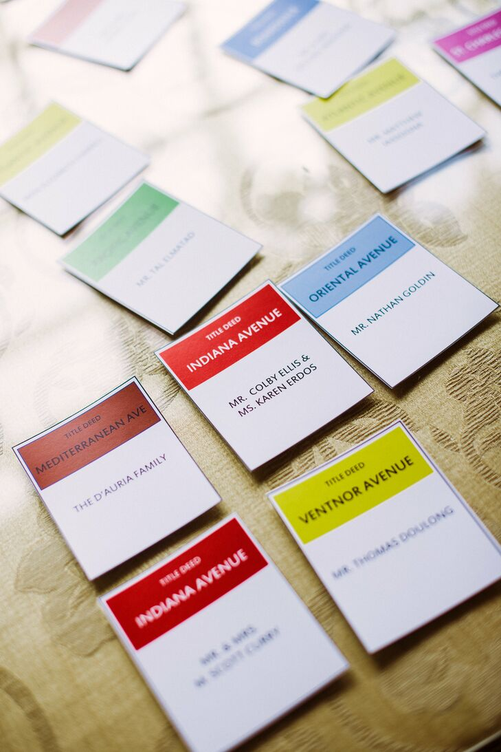 Monopoly Card Escort Cards