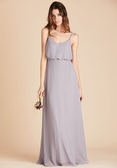 Birdy Grey Gwennie Bridesmaid Dress in Silver V-Neck Bridesmaid Dress