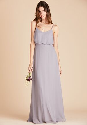 Birdy Grey Gwennie Dress in Silver V-Neck Bridesmaid Dress