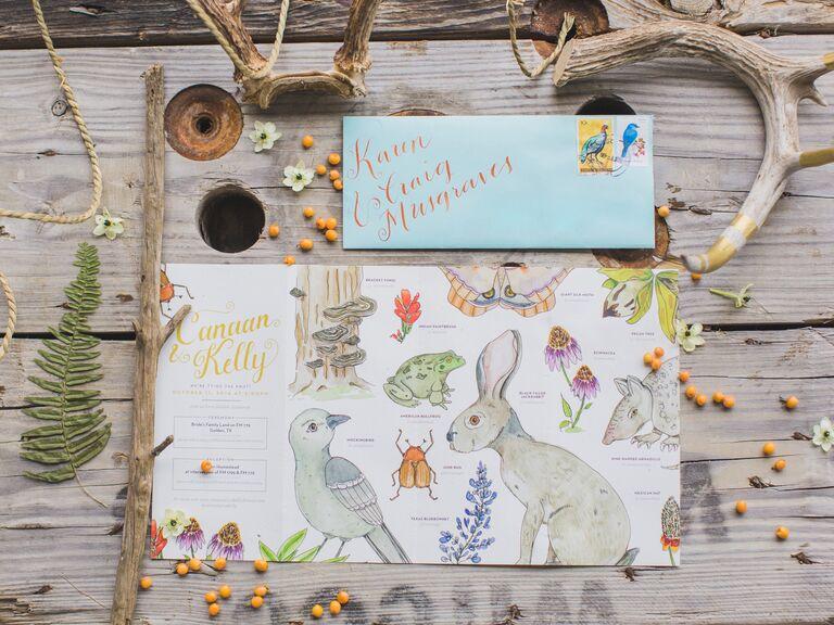 Woodland-themed invitations