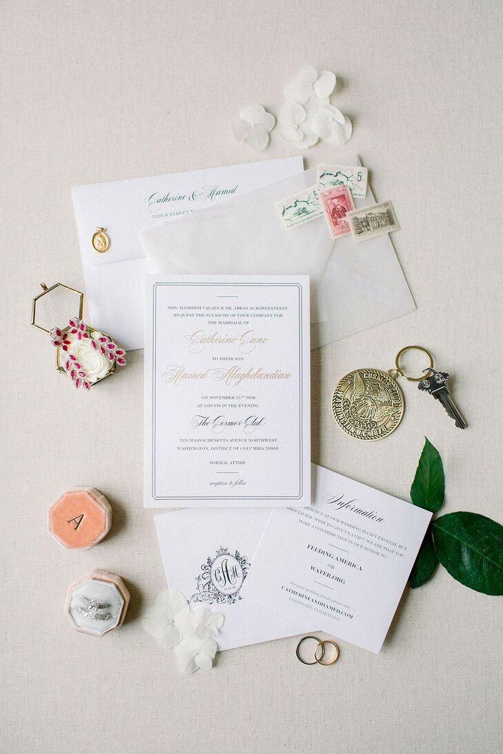 Formal Invitation Suite with Classic Calligraphy