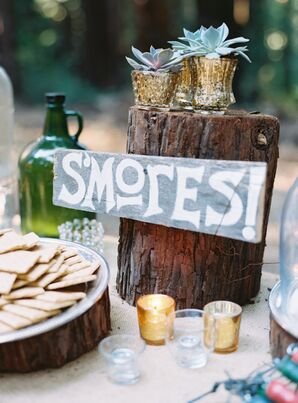 'S'mores' Gray and White Sign