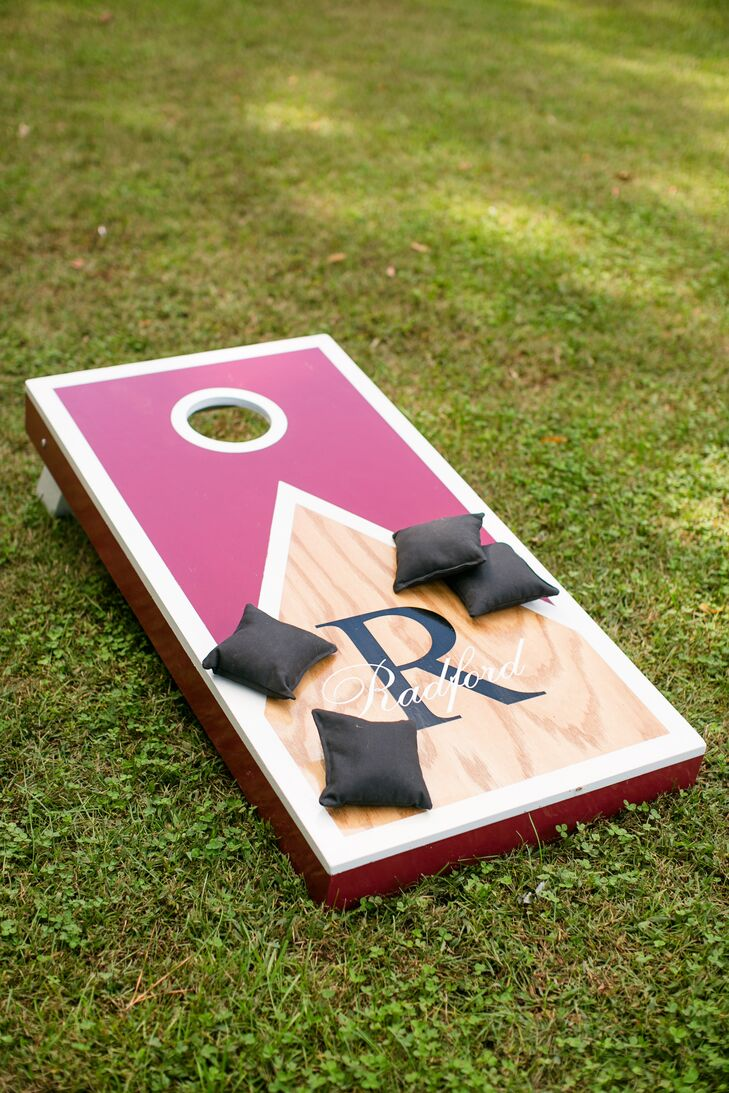"The goal for their wedding reception was to make guests feel comfortable. ""I even provided cornhole boards, checkers and a few other games for guests to enjoy during cocktail hour,"" says Victoria."
