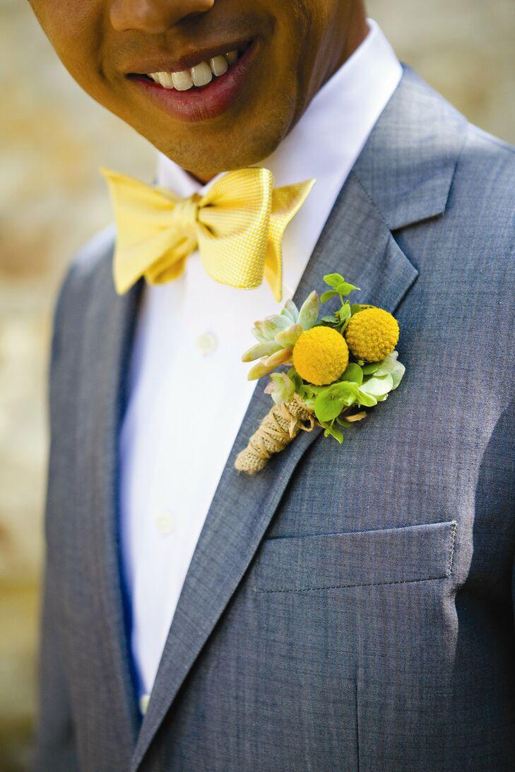 Yellow Boutonniere